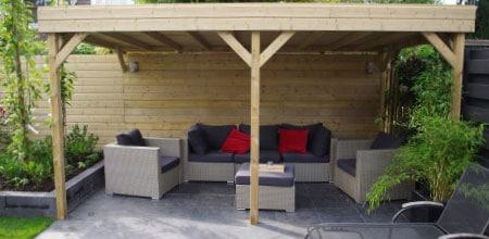 houten overkapping Noord-Holland