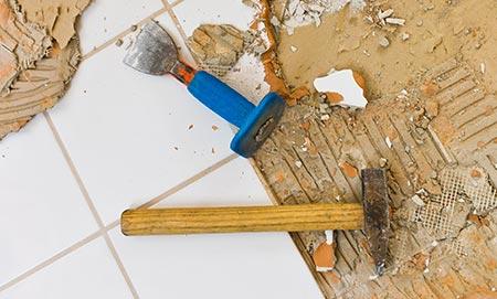 Keukentegels verwijderen